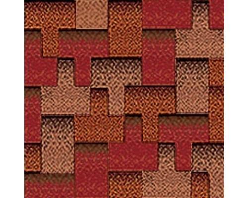 32% Autumn Burgundy + 32% Minimalist Copper + 36% Golden Wood